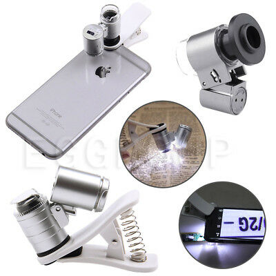 65X Optical Zoom Camera Clip Telescope Microscope Lens For Universal Cell Phone