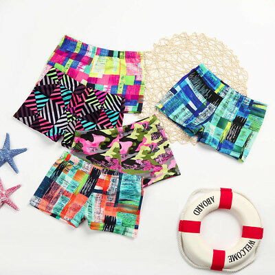 Kids Baby Boys Stretch Beach Swimsuit Striped Trunks Shorts Striped Camouflage
