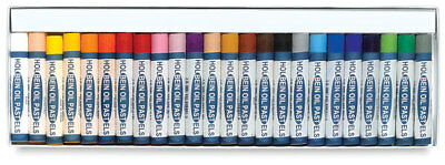 Holbein Student Oil Pastels - Boxed Set of 24 Large Round Sticks
