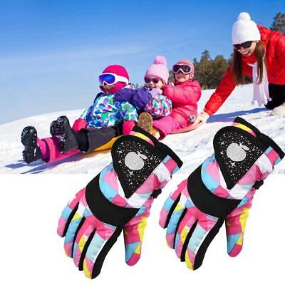 3Color Winter Boy Girl Windproof Outdoor Ski Snowboard Thick Finger Gloves