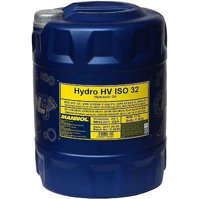 20 litres MANNOL Hydro HV ISO 32 HUILE HYDRAULIQUE HVLP 32 huile oil DIN 51524/3