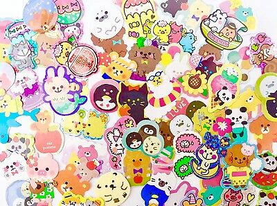 Mixed Kawaii Japanese Sack Flake Cute Stickers All Different Designs Pack Of 30