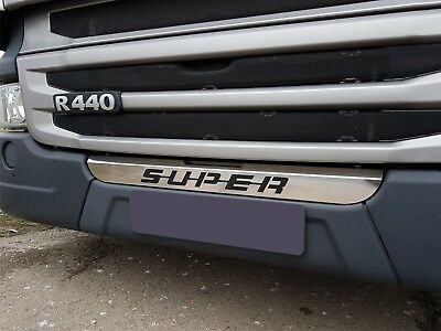 Front Stainless Steel Decoration Grill Badge SUPER sign Bottom for Scania R P G