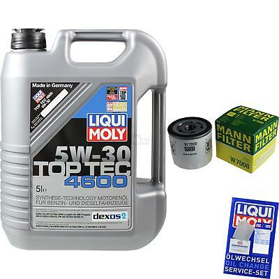 MANN-FILTER KIT CAMBIO ACEITE 5l Liqui Moly TOP TEC 4600 5w-30 mlm-9722224