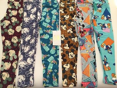 NWT LuLaRoe Disney Kids SM Small Medium Kids Leggings New Lot Of 6