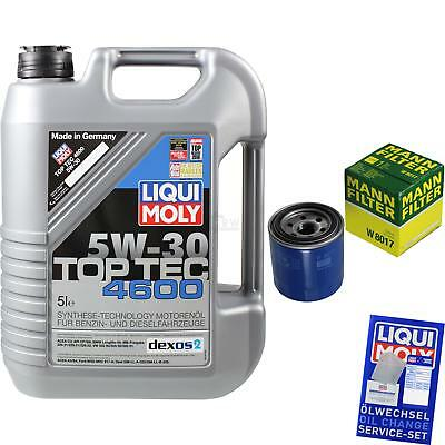 MANN-FILTER KIT CAMBIO ACEITE 5l Liqui Moly TOP TEC 4600 5w-30 mlm-9722164