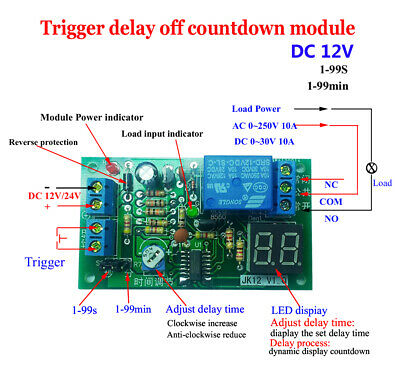 DC 3.3-24V Electronic Switch Touch Trigger Jog/ Self-locking Bistable Circuit 2A