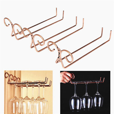 Practical Bronze Wine Glass Rack Cup Hanger Glass Holder Shelf Stainless Steel