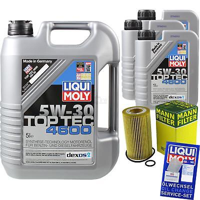 MANN-FILTER KIT CAMBIO ACEITE 8l LIQUI MOLY 3756 TOP TEC 4600 5w-30 mlm-9783559