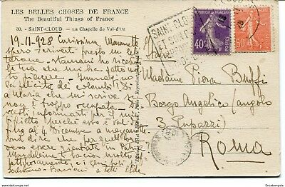 CPA - Carte postale -  FRANCE - Saint Cloud -La Chapelle du Val d'or - 1928