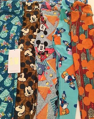 NWT LuLaRoe Disney Kids SM Small Medium Kids Leggings New Lot Of 5