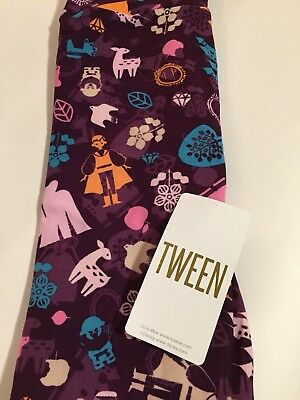 NWT LuLaRoe Disney Tween Kids Leggings New Lot Of 5