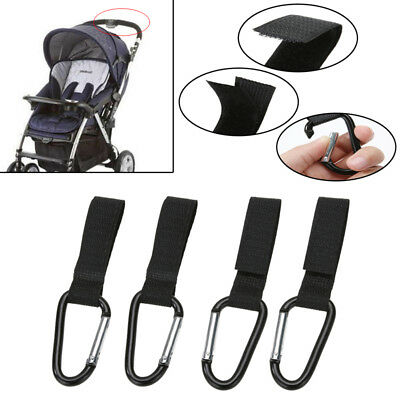 4Pc Universal Mummy Buggy Clip Pram Pushchair Stroller Hook Shopping Bag 4 Clips