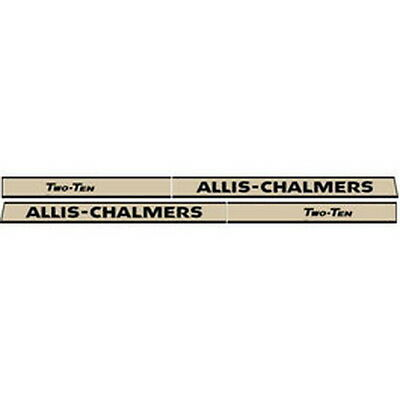 New 210 Allis Chalmers Tractor Hood Decal Set High Quality Vinyl Hood Decal Kit