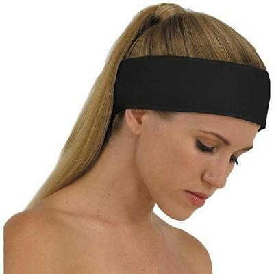 Black Cotton Reusable/Washable Headband Makeup Salon Spa Beauty