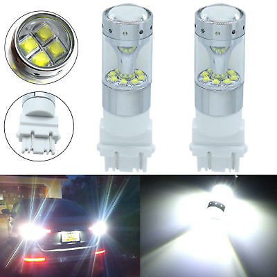 New 100W High Power 3157 3156 CREE LED Backup Reverse Light Bulbs 6000K White