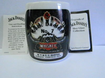 Legends of Jack Daniels Shot Glass Collection - Gunter Brothers - Whiskey No 7