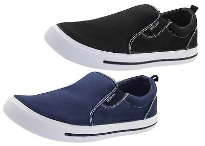 Ladies Slip On Loafers Canvas Plimsoll Pumps Skate UK Comfy Casual Deck Shoes