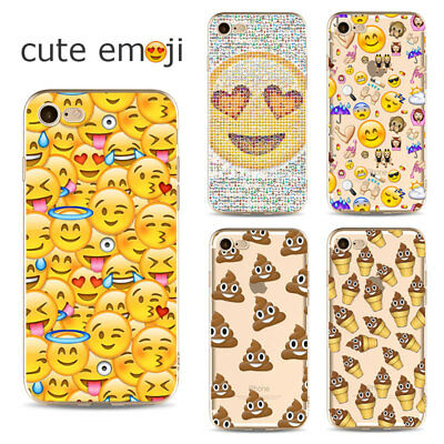 Cute Phone Case Cover with Emoji Effect for iPhone 5 5S SE 6 6s 7 8 Plus X 10