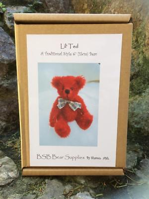 'Lil' Ted ' Bear Making Kit in  RED