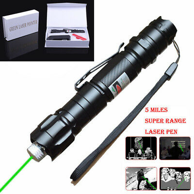 Powerful Laser Pointer Set 1mW Focus Green Laser Beam 18650 Rechargeable Battery