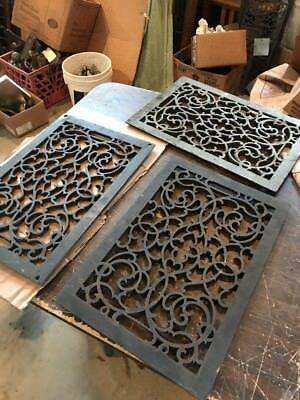 Z 6 ..5available price each cast-iron heating grate face 12 9/16 x 18.5