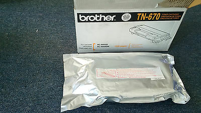 One Brother TN-670 Toner Cartridge - New in Opened Box