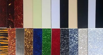 5 x Blank Pickguard Sheet scratchplate material 44 x 29cm various colours