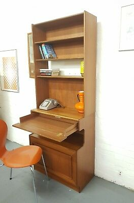Mid Century Teak Desk Bureau Bookcase Unit Retro Vintage Mcintosh - Delivery