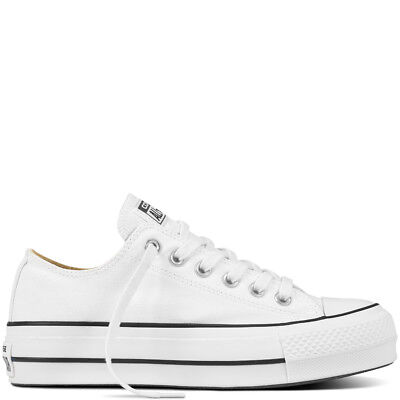 Converse sneakers donna platform CT All star Lift art. 560251C col. bianco