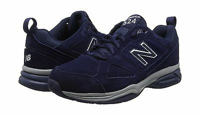 New Balance Men's MX624NV4 Navy Suede 2E Wide Trainers