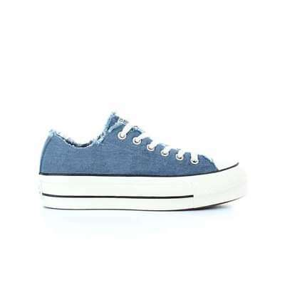 24af617cf7c4c Converse All Star CLEAN LIFT OX sneakers donna platform art. 560947C col.  jeans