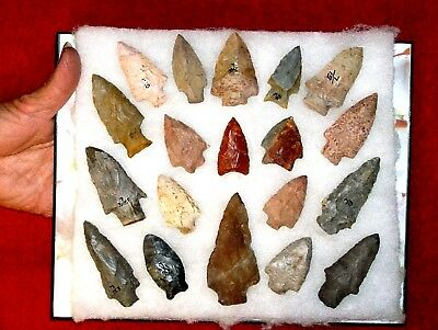 Authentic AL Indian Arrowheads / LOT  5.