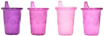 The First Years Take & Toss Spill-Proof 4-Pack Sippy Cups - 10 Ounce Pink, NEW