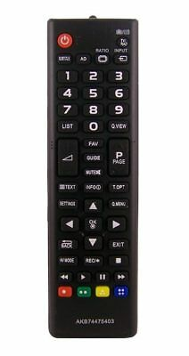 New TV Remote Control for Lg AKB74475403 Full HD LED TV