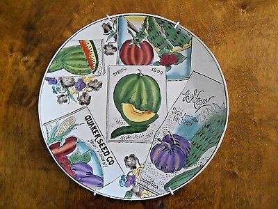 Quaker Seed Co Mount Vernon NY Advertising Decorative Plate with Plate Hanger