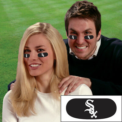 Chicago White Sox Face Decorations 6 High Quality Vinyl MLB Eye Black Strips