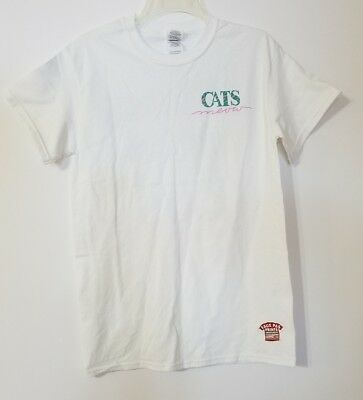 New Orleans Cats Meow Bar White Novelty T Shirt S/S  Size Small