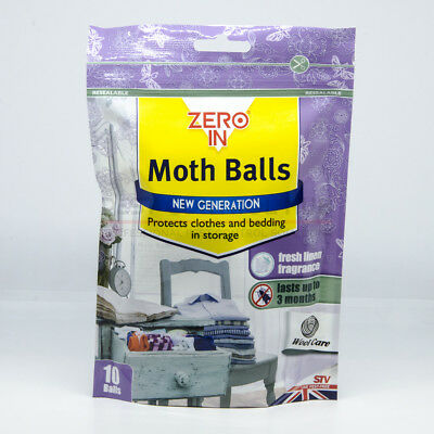Moth Balls with Fresh Linen Smell Ball Kills Moths Larvae and Eggs in Wardrobes