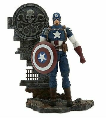 "Disney Store Marvel Select AVENGING CAPTAIN AMERICA Avengers 7"" Collectors Editi"