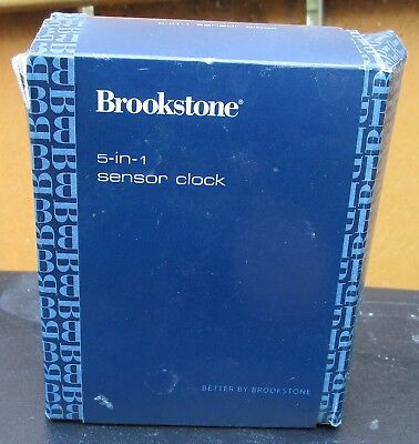 new brookstone 5 in 1 sensor travel clock with original packaging rh picclick com brookstone 5-in-1 sensor clock manual 4511 Brookstone Clock Manual
