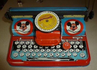 Vintage 1950s MICKEY MOUSE CLUB MOUSEKETEER FAN CLUB TYPEWRITER