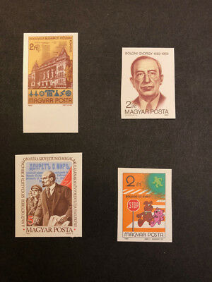 Hungary Scott No. 2766,2767,2768,2776 MNH Imperforate Imperf Imp Stamps of 1982