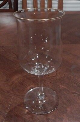 """Lenox Crystal """"intrigue"""" Pattern Gold Trim Water Goblet (S) 7"""" Tall Excellent!!"""
