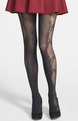 fdc41e7d4 ALICE + OLIVIA by Pretty Polly Lace Fishnet Mock Tights Black One ...