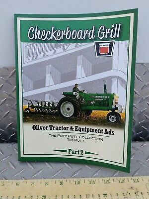Agco Oliver checkerboard grill book tractor and equip ads Tim putt NEW 2015 nice