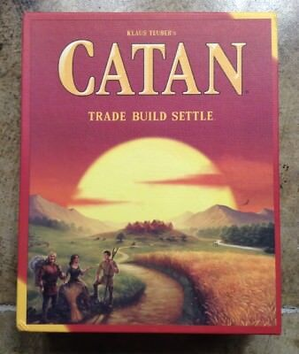 C10 Klaus Teuber's Settlers of Catan: Trade Build Settle 5th Edition Board Game