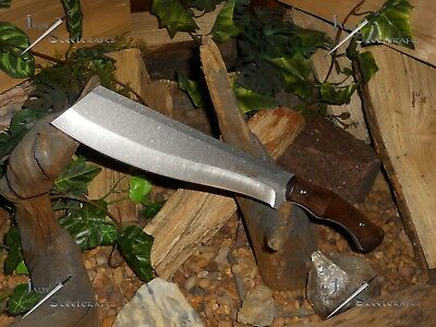 Survivor/Cleaver/Machete/Bowie/Full tang/Combat/Survival/Wood grip/14""