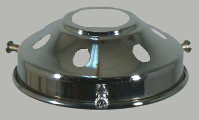 "New Art Deco Shade Lamp Glass Gallery Fitter 3 1/4"" Fitting Chrome Light Part"