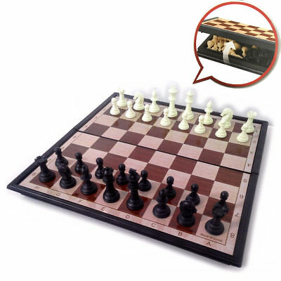 Magnetic Folding Chessboard Chess Board Box Set Portable Kids Game Toy Puzzle AU